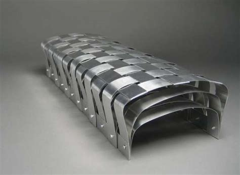 Aluminum Park Benches Woven Metal Furniture The Basket Bench By Can Onart Is