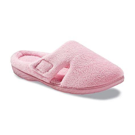 pink dearfoam slippers dearfoams s hoop loop tab clog slipper pink