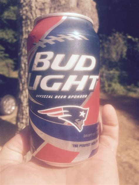 new england patriots laser light bud light kickoff beer can new england patriots bud