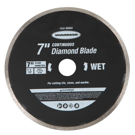 warrior saw blades 7 in continuous cut masonry blade
