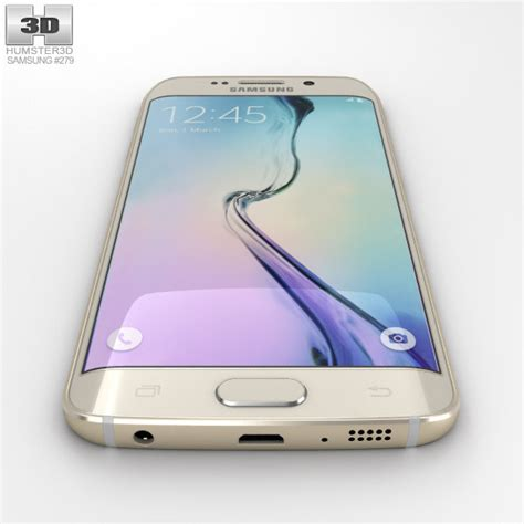 Samsung S6 Platinum Gold samsung galaxy s6 edge gold platinum 3d model hum3d
