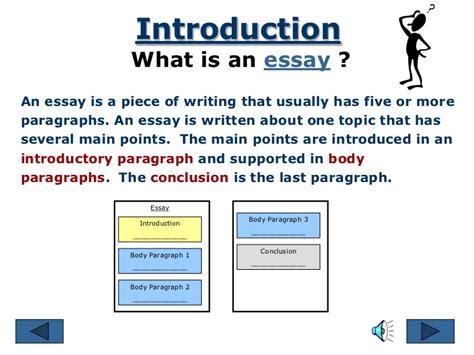 what are the three major parts of an essay college paper academic