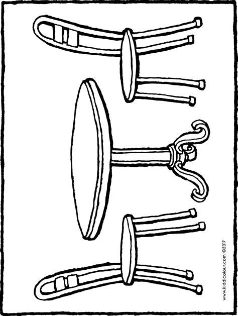 Table Ronde Et Chaises by Table Ronde Et Chaises Kiddicoloriage