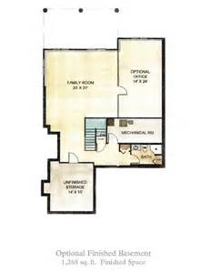 House Plans With Finished Basement by The Village At West Gloucester Finished Basement Option
