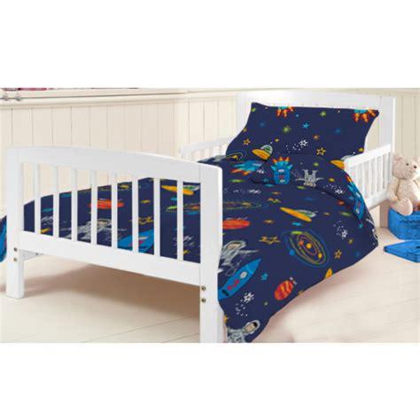 space bed linen cotbed junior duvet cover set space boy planets rocket