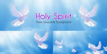 holy spirit dove spiritual loopable background by