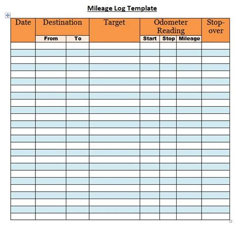 30 Printable Mileage Log Templates Free ᐅ Template Lab Mileage Log Template