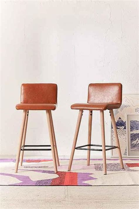 Brown Counter Stools by Brown Vegan Leather Counter Stool