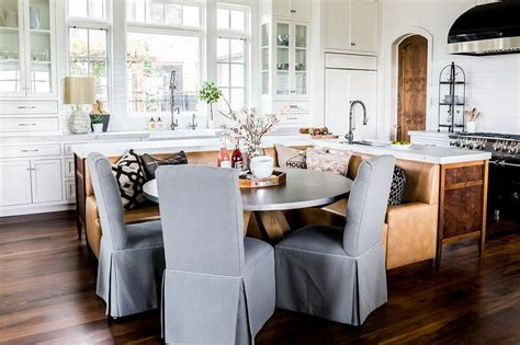 kitchen island with banquette kitchen island with built in l shaped dining banquette