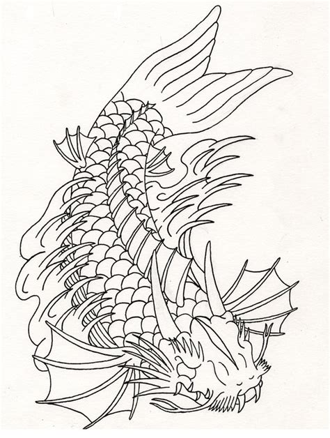 koi dragon design by heavy metal ink on deviantart