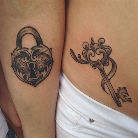 heart and key couple tattoos 35 meaningful lock and tattoos key