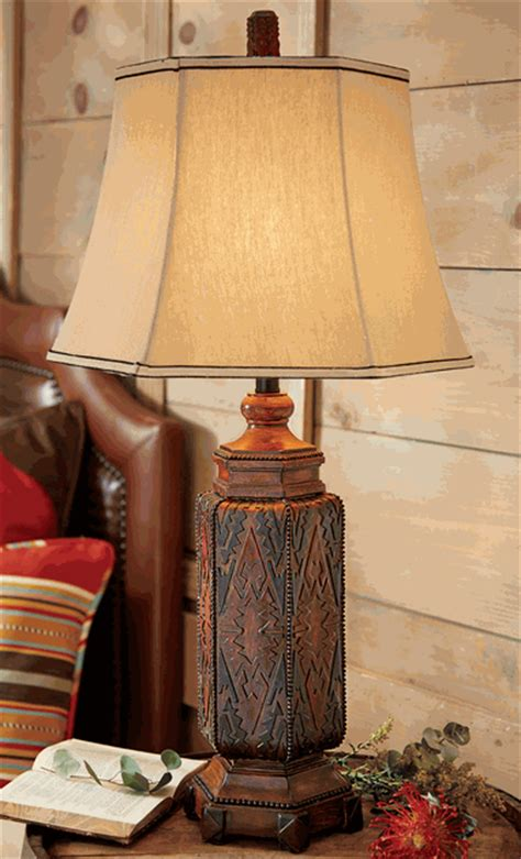 Rustic Table Lamps: Cordova Southwestern Table Lamp Black