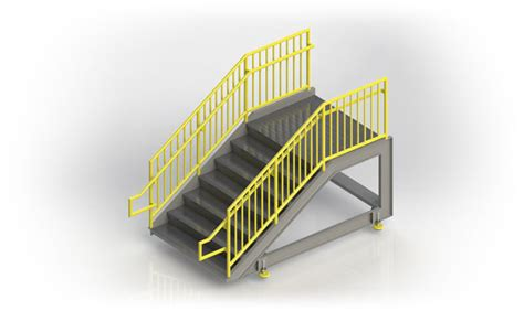 ibc stair design fabricated metal stairs custom industrial stairs