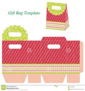 Gift Bag Template by Gift Bag Template With Dots And Ribbon Stock Vector