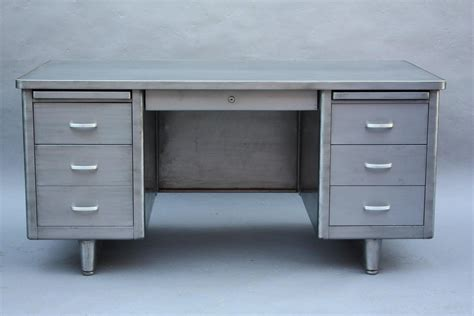 mid century industrial steelcase tanker desk at 1stdibs