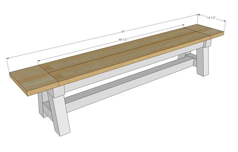 bench drawings ana white 4x4 truss benches diy projects