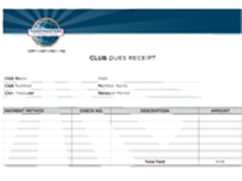 membership dues receipt template toastmasters international resource library