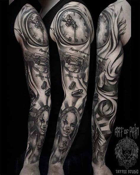 latino tattoos mexican sleeve chicano para