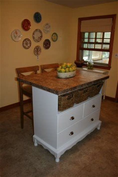 dresser kitchen island how to make a dresser into a kitchen island woodworking projects plans
