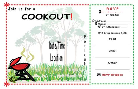 9 best images of cookout templates for word free