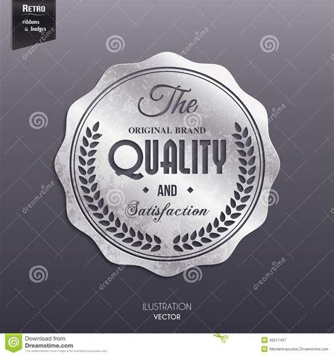 silver retro st sticker tag label badge on stock vector image 45511407