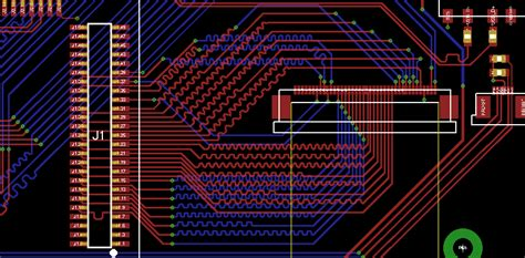 meandering traces    bit parallel rgb lcd