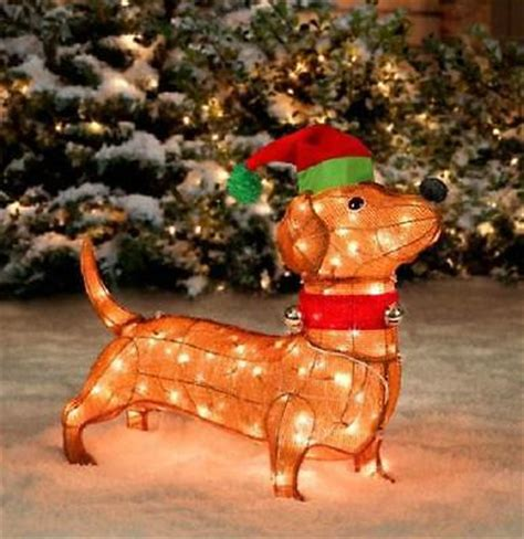 pre lit tinsel dog sale pre lit dachshund wiener outdoor tinsel sculpture yard decor what s it worth