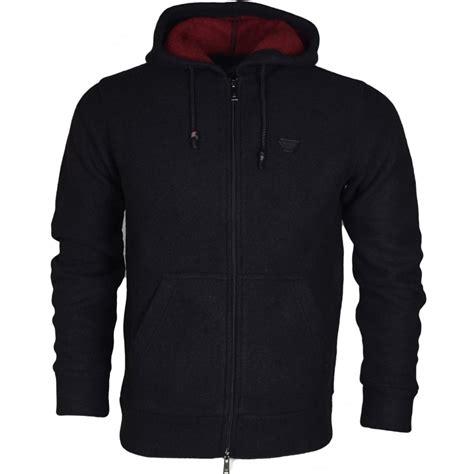Hoodie Zipper Franky C3 armani 6x6m08 polyester zip hooded black hoodie armani from n22 menswear uk