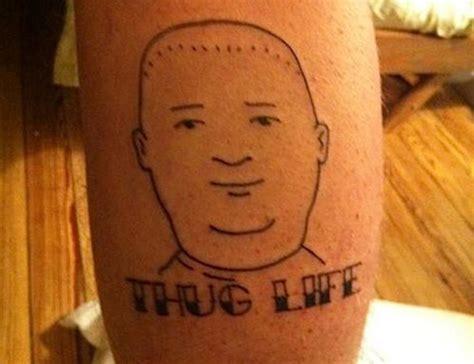 king of the hill tattoo i didn t choose the thug it chose me 28 pics
