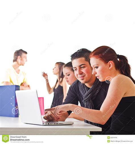 Couples Free Web Teenagers Surfing The Web Royalty Free Stock Photo Image