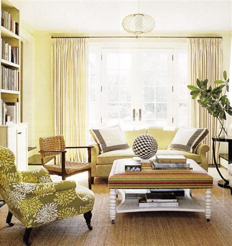 yellow living room decor yellow couch cottage living room