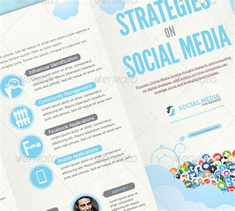 social media brochure template 45 creative premium brochure template designs 56pixels