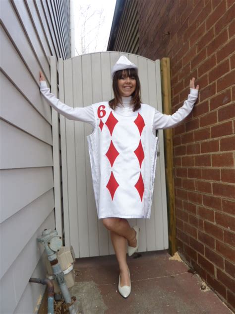 how to make a card costume deck of cards costume 6 of diamonds bam bam costume hire