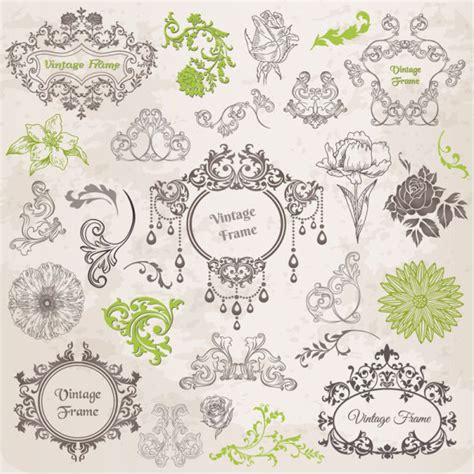 pattern border illustrator elements of ornate pattern and borders vector free vector