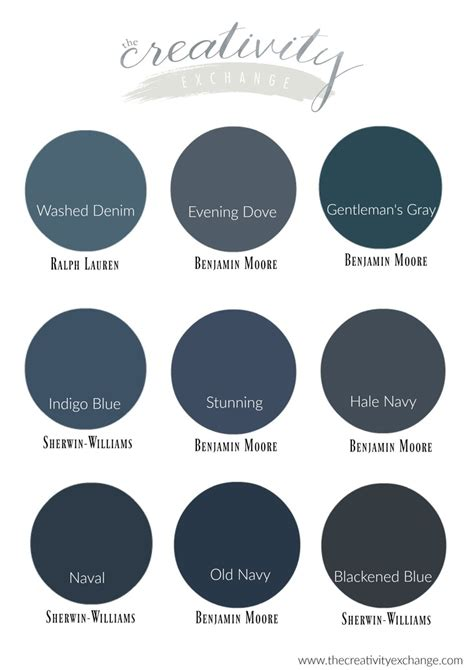 best colors our favorite navy paint colors