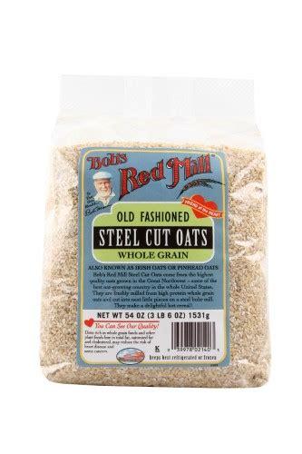 whole grains or steel cut oats bobs mill whole grain steel cut oats 54 oz jet