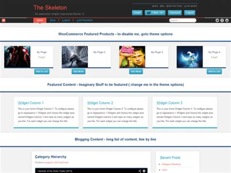 skeleton responsive template a list of awesomely free woocommerce themes for