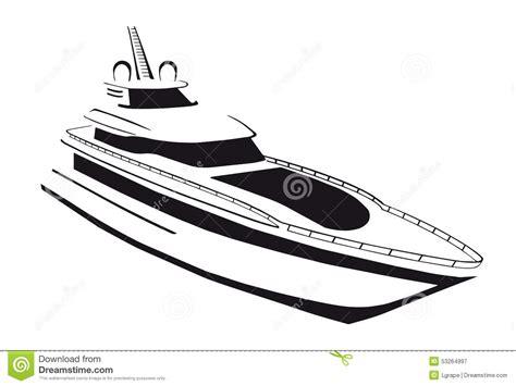 dessin bateau silhouette silhouette du yacht bateau bateau illustration de vecteur