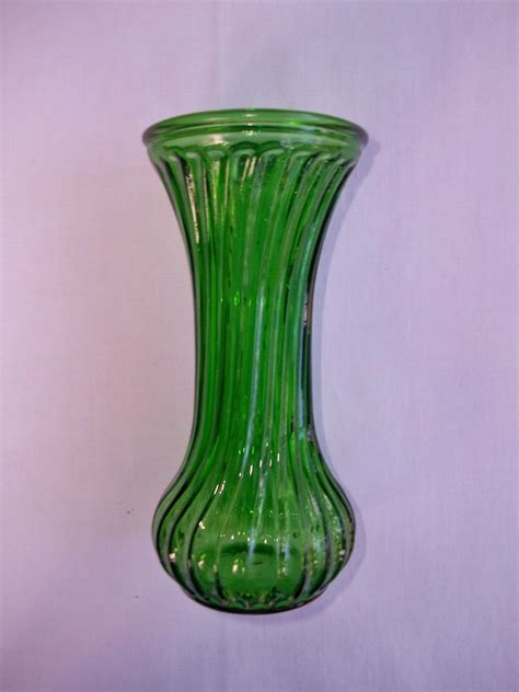 Hoosier Glass Vases by Hoosier Green Glass Vase