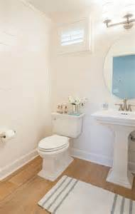 Oval Mirrors For Bathrooms Shiplap Powder Room With Light Wood Floors