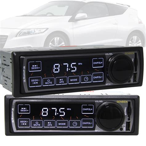 Single Din Mobil Unit Usb Sd Card Radio Mp3 Player Orca car radio bluetooth unit 1 din in dash 12v sd usb aux fm stereo mp3 iphone