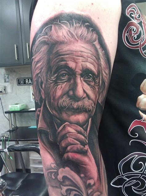 ink slingers tattoo albert einstein by fernie andrade of ink slingers
