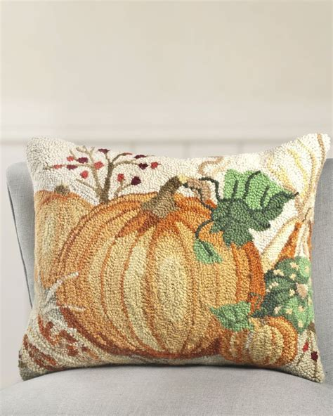 16 x 20 inch nature s harvest hooked pillow balsam hill