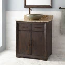30 quot davyn vessel sink vanity rustic brown