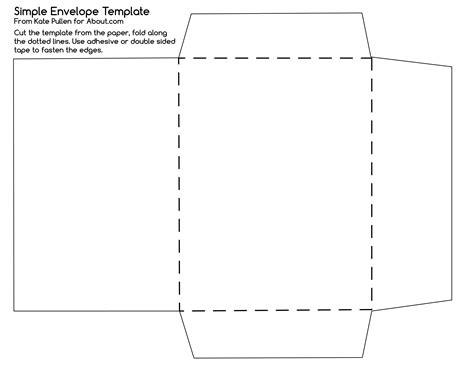 easy printable envelope template try this simple envelope template