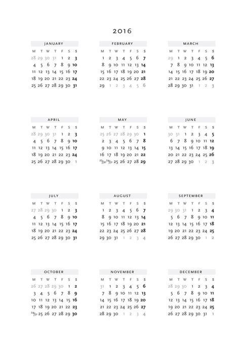 2014 Yearly Calendar Word