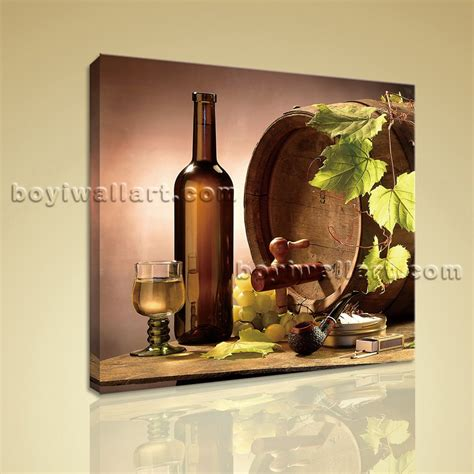 canvas wall for dining room hd print abstract painting wall on canvas wine food