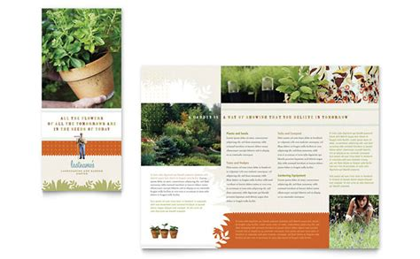 Landscape Brochure Template landscape garden store brochure template design