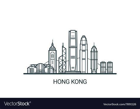banner design hong kong outline hong kong banner royalty free vector image