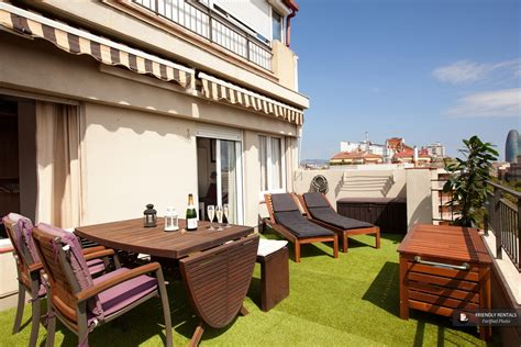 terrace apartments to rent in barcelona